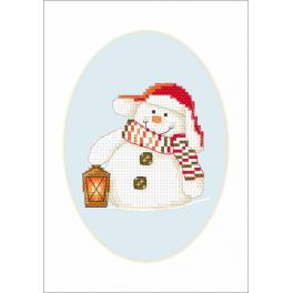 Cross stitch kit - Card - In the twilight