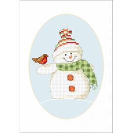 W 8660-02 ONLINE pattern pdf - Postcard - Winter friends