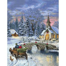 K 8944 Tapestry canvas - Christmas nostalgia