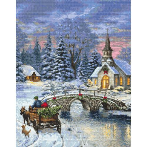 Cross stitch kit - Christmas nostalgia