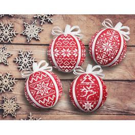W 8945 Pattern online - Scandinavian Christmas balls
