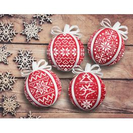 ZU 8945 Cross stitch kit - Scandinavian Christmas balls