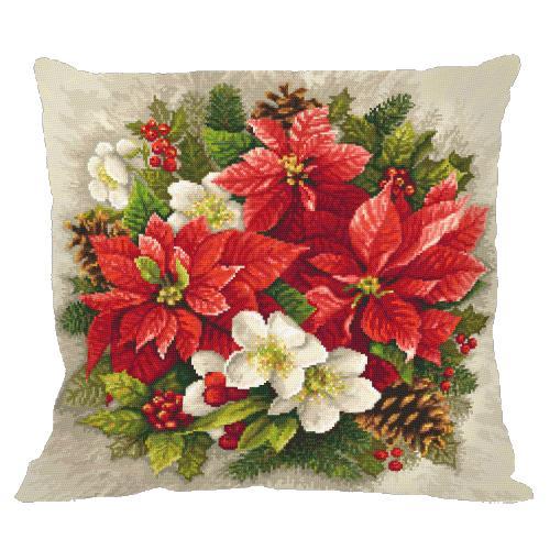 Cross stitch pattern - Pillow - Christmas magic of red