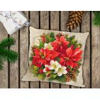 Cross stitch kit - Pillow - Christmas magic of red
