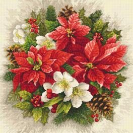 Cross stitch kit - Christmas magic of red