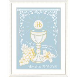 Kit with tapestry and frame - First Holy Communion
