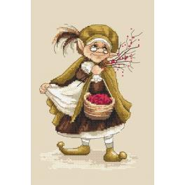 Cross stitch kit - Lady troll