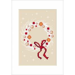 W 8792 Pattern online - Christmas card - Christmas wreath