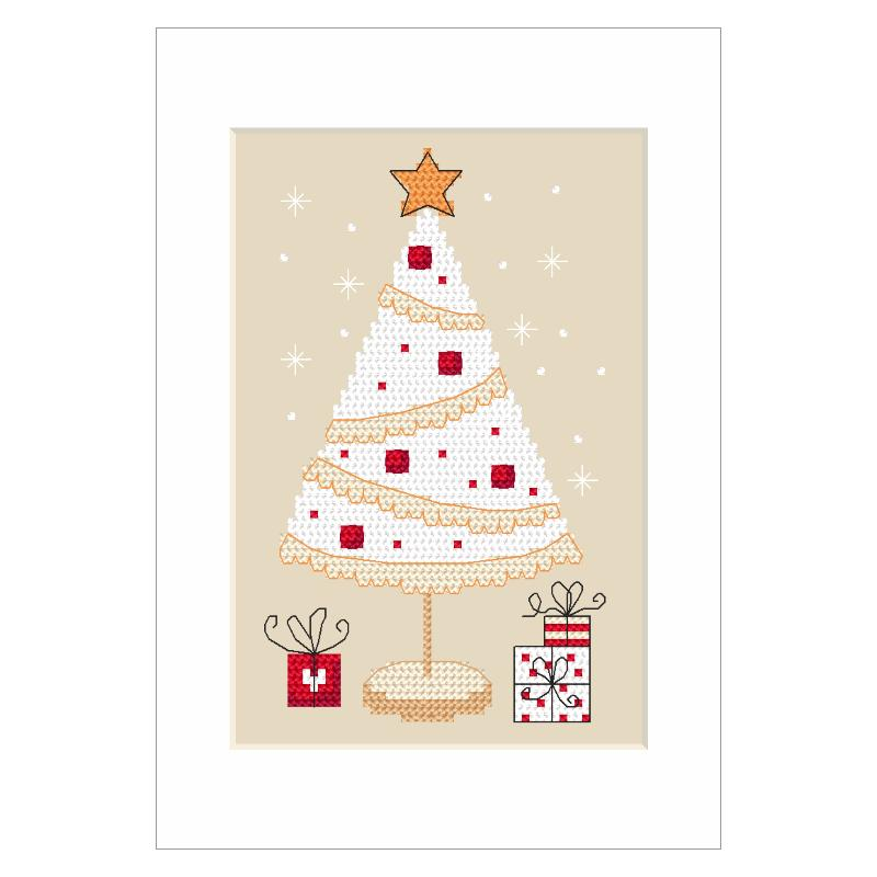 Pattern online - Christmas card - Christmas wreath