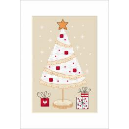 Cross stitch kit - Christmas card - Christmas tree