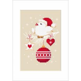 Cross stitch pattern - Christmas card - Bird
