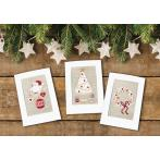 Cross stitch kit - Christmas card - Christmas wreath