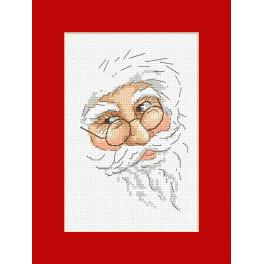 Cross stitch pattern - Card with Santa Claus