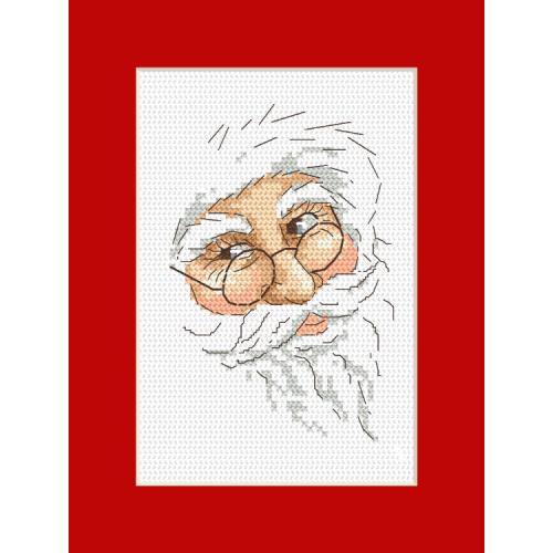 Cross stitch kit - Card with Santa Claus