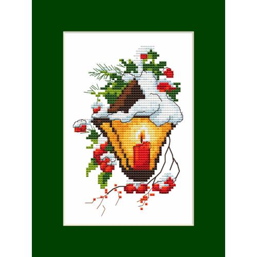 Cross stitch kit - Postcard with a lantern