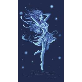 GC 10136 Cross stitch pattern - Blue fairy