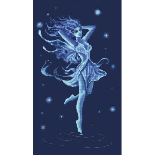 Cross stitch pattern - Blue fairy