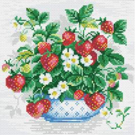 RIO AM0008 Diamond painting kit - Basket of strawberries