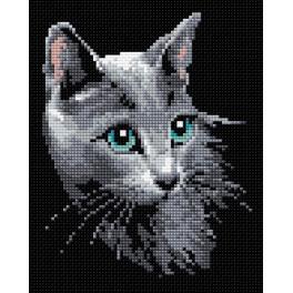 Diamond painting kit - Russian blue cat