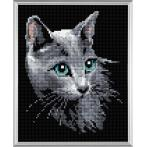 Diamond painting kit - Russian blue cat