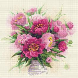 Diamond painting kit - Peonies in a vase