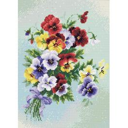 RIO AM0016 Diamond painting kit - Pansies