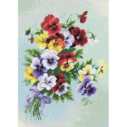 Diamond painting kit - Pansies