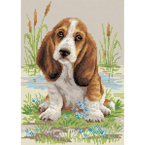 Diamond painting kit - Basset puppy