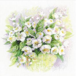 Cross stitch kit - Watercolor jasmine