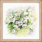 Cross stitch kit - Watercolor jasmine