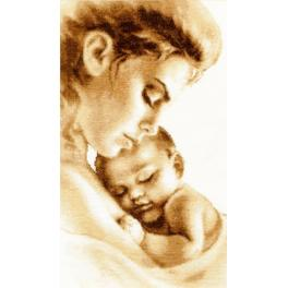 Cross stitch kit - Mother's tenderness