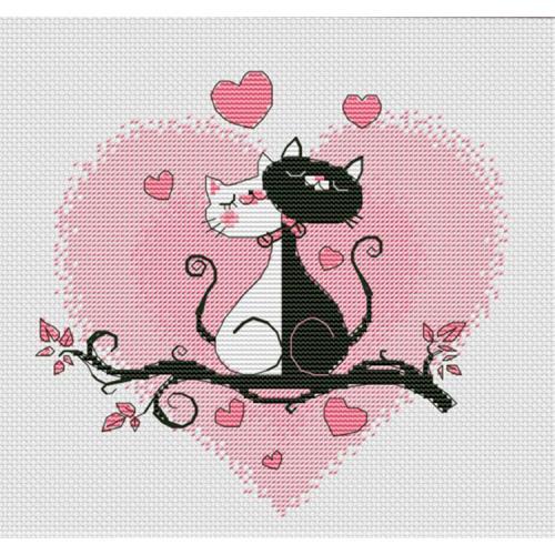 OV 1021 Cross stitch kit - It is love!