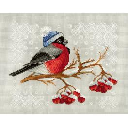 Cross stitch kit - Bullfinch on rowan