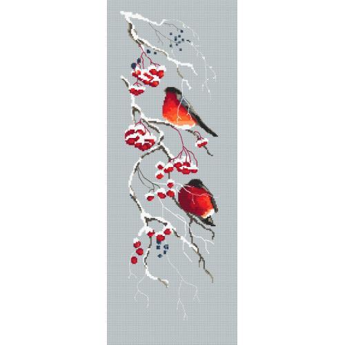 Cross stitch pattern - Bird Red viburnum