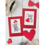 Cross stitch kit - Valentine's Day card - Elephant