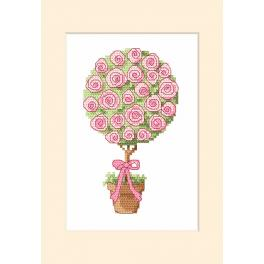 Cross stitch kit with a postcard - Greeting card - Sapling