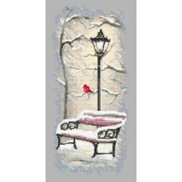 GC 10153 Cross stitch pattern - Winter bench