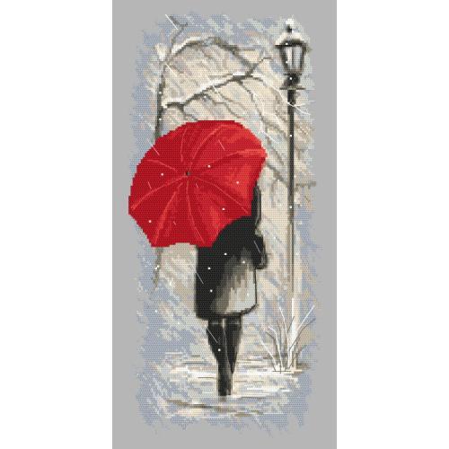 ZN 10152 Cross stitch tapestry kit - Winter walk