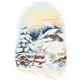 Kit with tapestry and mouline - Charms of winter