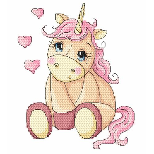Cross stitch kit - Sweet unicorn