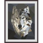 Cross stitch pattern - Mosaic wolf
