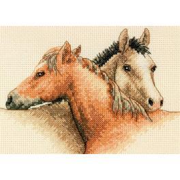 Cross stitch kit - Horse pals