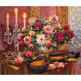 Cross stitch kit - Romantic floral