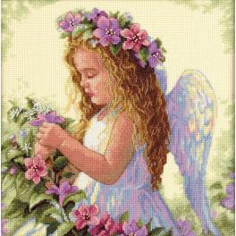 Cross stitch kit - Passion flower angel