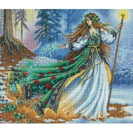 DIM 35173 Cross stitch kit - Woodland Enchantress