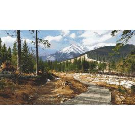 Cross stitch kit - Mountain trail