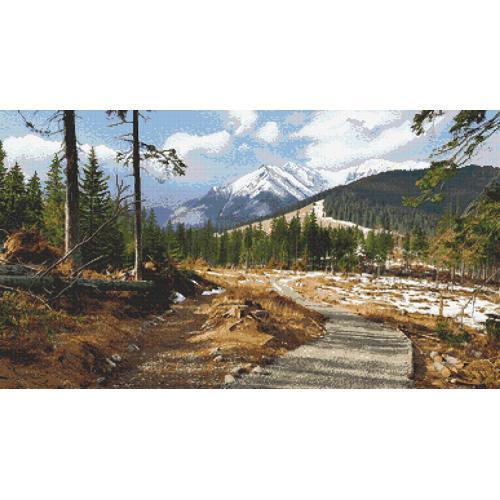Cross stitch kit - Mountain trail