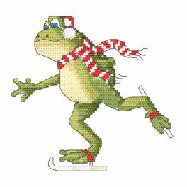 Cross stitch kit - Frog on the snipe
