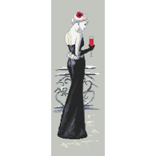 Cross stitch pattern - Black lady