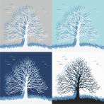 Cross stitch kit - Trees of dreams